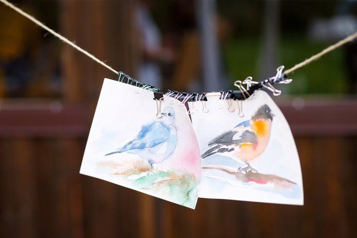 Birds, watercolour