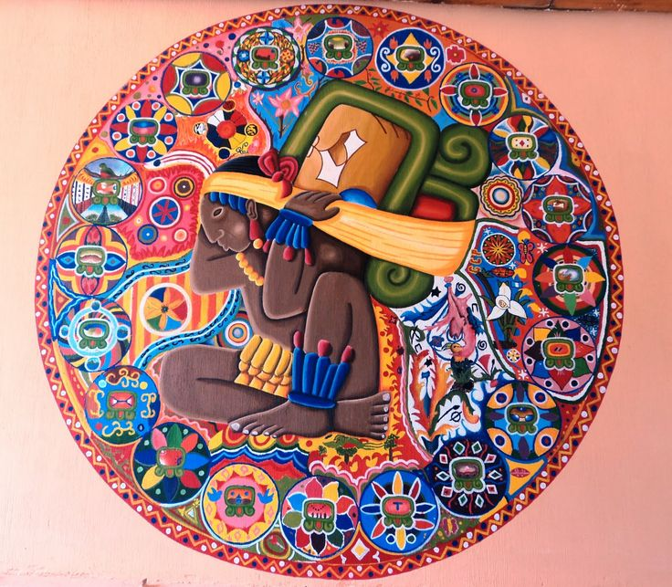 132 best images about art m xico on pinterest for Aztec mural painting