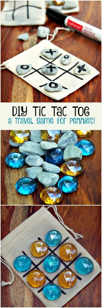 DIY Tic Tac Toe Game Board for only Pennies... muslin tea bags. 25 for 6$ amazon…