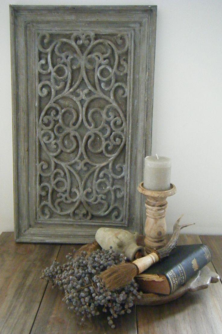 Wandbord gemaakt van een rubberen mat