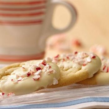 Peppermint Crunch Sugar Cookies Recipe - Sweet, minty and pretty all at once, these easy holiday cookies will make a festive addition to your holiday cookie plate.