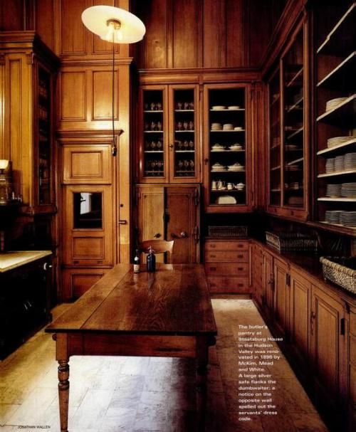 The Servant's Quarters in the 19th Century Country Houses Like Downton Abbey