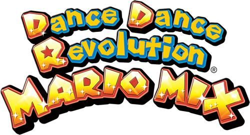 The Dancing Revolution Mario mix logo from the official artwork set for #Dance Dance Revolution #Mario Mix for #Gamecube. Visit for more info http://www.superluigibros.com/dance-dance-revolution-mario-mix