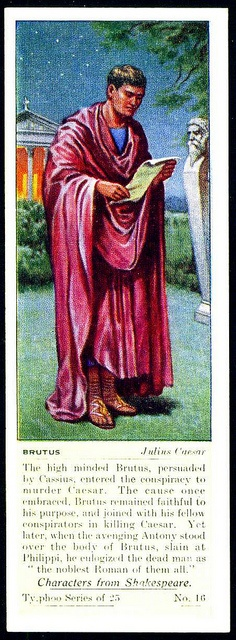 Typhoo Tea Card - Brutus ~ Julius Caesar by cigcardpix, via Flickr