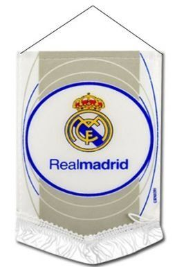 Real Madrid Mini Pennant by Real Madrid. $7.98. This official Real Madrid mini pennant is ideal for the car, office or home and measures 16cm x 11cm.