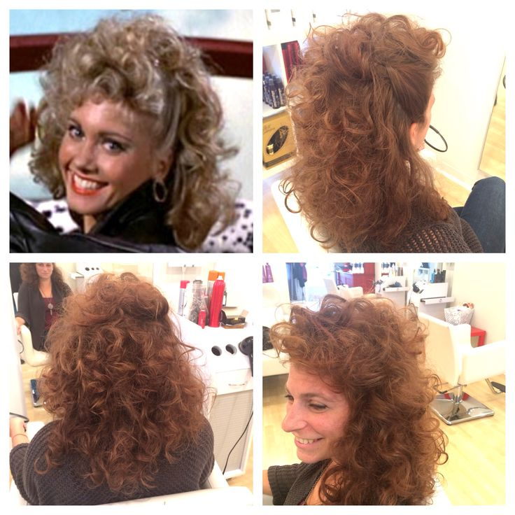Halloween sandy from grease hair style