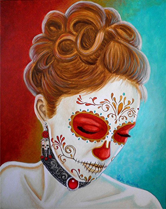 Hey, I found this really awesome Etsy listing at https://www.etsy.com/listing/196564035/day-of-the-dead-giclee-print-recuerdos