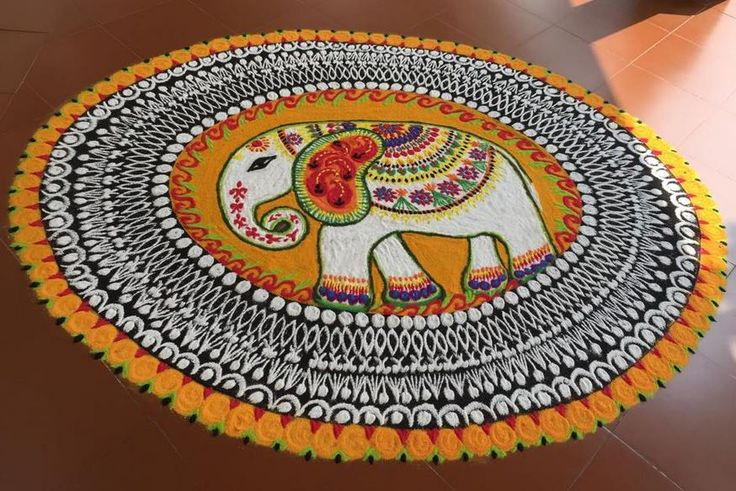 36 best images about rangoli on pinterest for Floor rangoli design