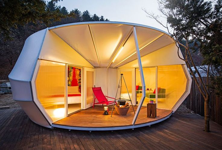 Though perhaps not the first to pluck the whole unnecessary tent-pitching business out of camping, Seoul-based studio ArchiWorkshop has certainly taken the semi-ridiculous art of glamping—that's...