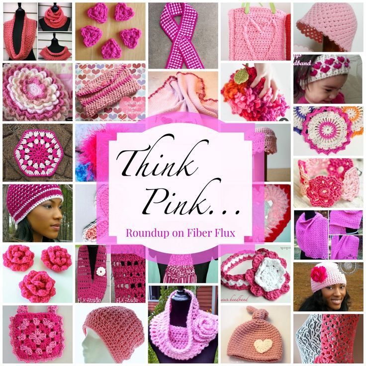 Think Pink...40 free crochet patterns to go pink in October!
