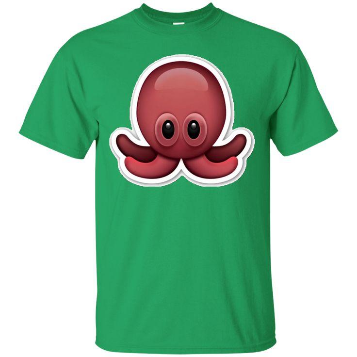 Octopus Emoji T-Shirt Squid Ocean Sea Creature Animal
