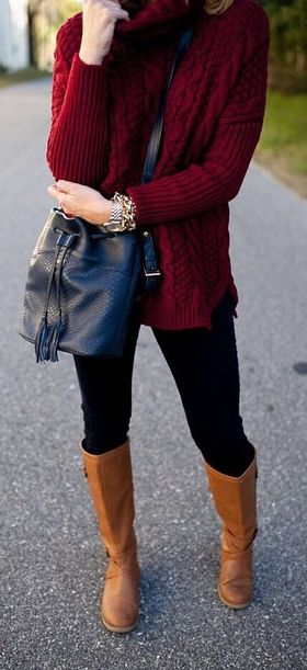 wine cable knit sweater  http://rstyle.me/n/pza7spdpe