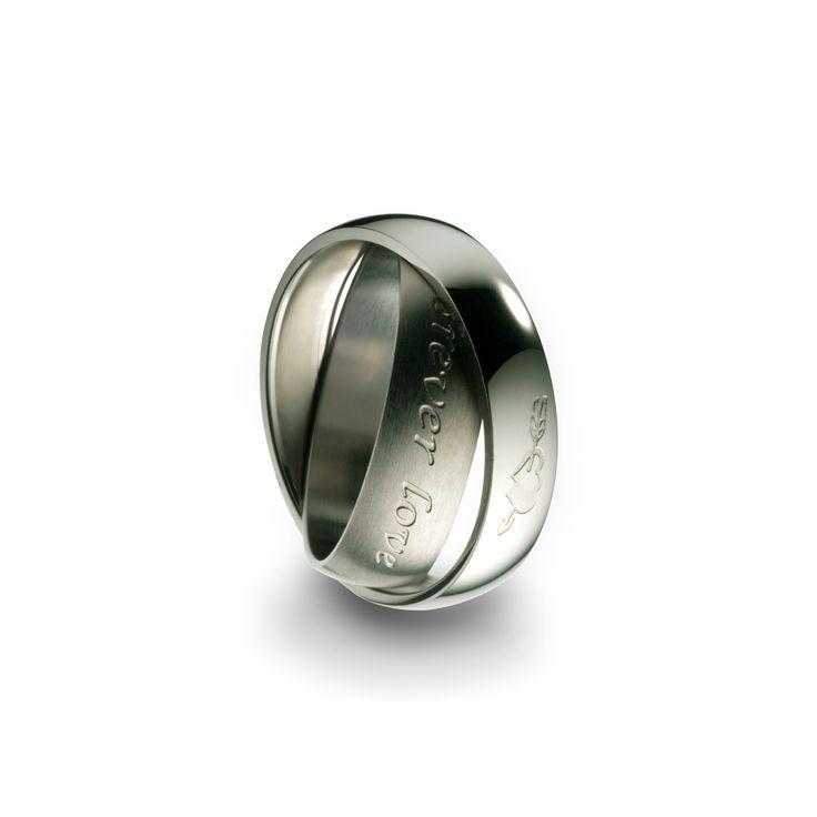 Aliança Anjewels Forever Love Love You Forver Silver - AA.A75