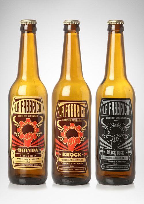 cool beer label shape