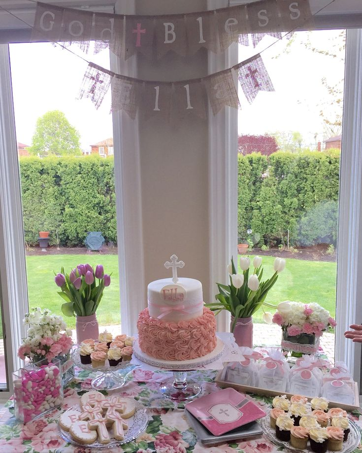 25 best ideas about girl baptism on pinterest girl for Baby christening decoration