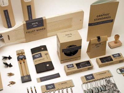 packaging and branding project for an upscale handmade fishing equipment supplier : Jason Wright