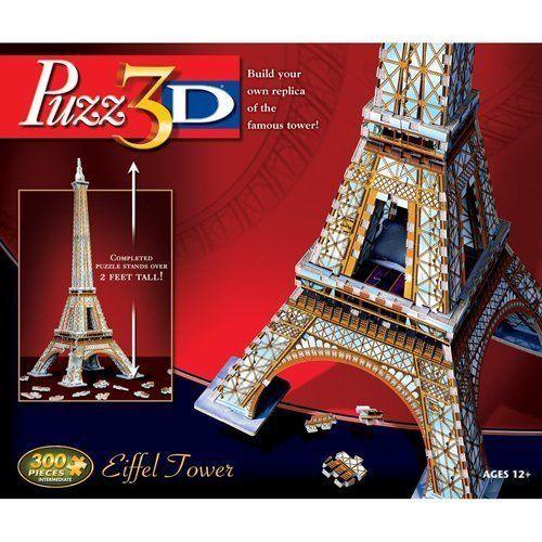 Puzz3D Eiffel Tower Puzzle 300pcs 3 D 3D Assembly