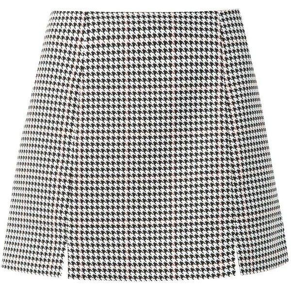 Keep on top of the co-ord trend with this houndstooth skirt. Add the matching top and black shoe boots to finish. Mini length. Slim fit. Breathable woven fabri…