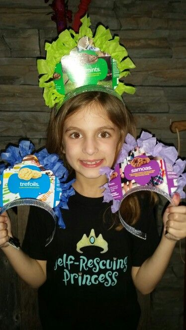 Girl Scout Cookie Crowns for door-to-door sales and cookie booth