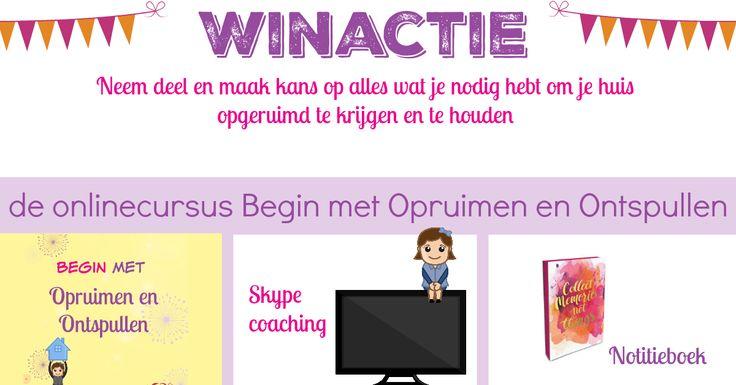 Winactie onlinetraining Begin met Opruimen en Ontspullen