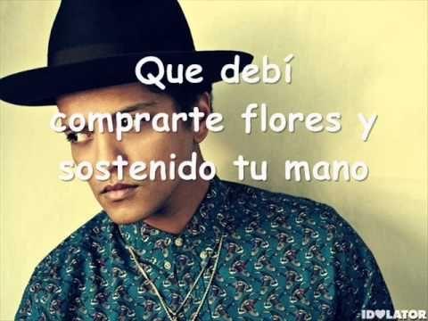 Bruno Mars   When I was your man LETRA EN ESPAÑOL