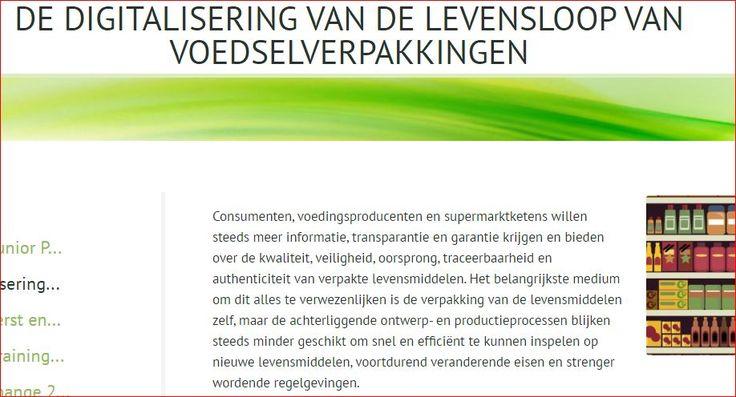 Consumenten willen steeds meer informatie en transparantie krijgen over verpakte levensmiddelen. De verpakking speelt daarin een centrale rol. Binnen de verpakkingsindustrie is er daarom nood aan nieuwe computersystemen die toelaten om een reductie van de voedselverliezen die optreden als gevolg van inefficiënte logistieke processen en ontoereikende voedselverpakkingen, te bereiken   http://www.sciencedirect.com/science/article/pii/S016636151730043X