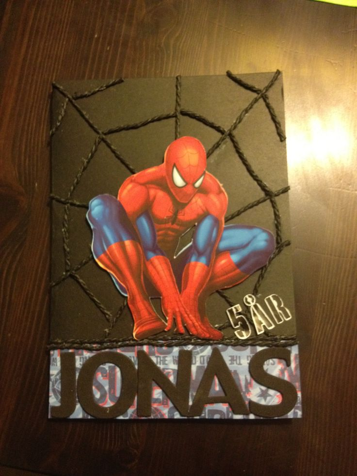 Homemade Spiderman Birthday Card For 5 Year Old Boy