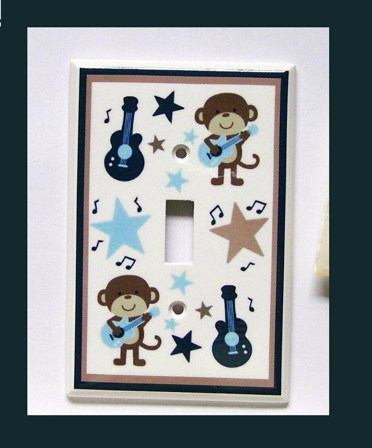 1  ROCKSTAR MONKEY switch plate  single. $8.50, via Etsy.
