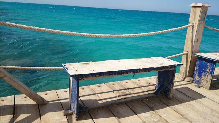#EL GOUNA #RED SEA #Bench #sea view
