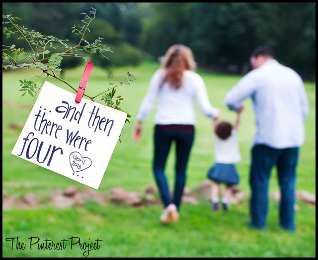 Baby Announcement Ideas: Family Photos and Drum Roll PLEASE ..... | The Pinterest Project