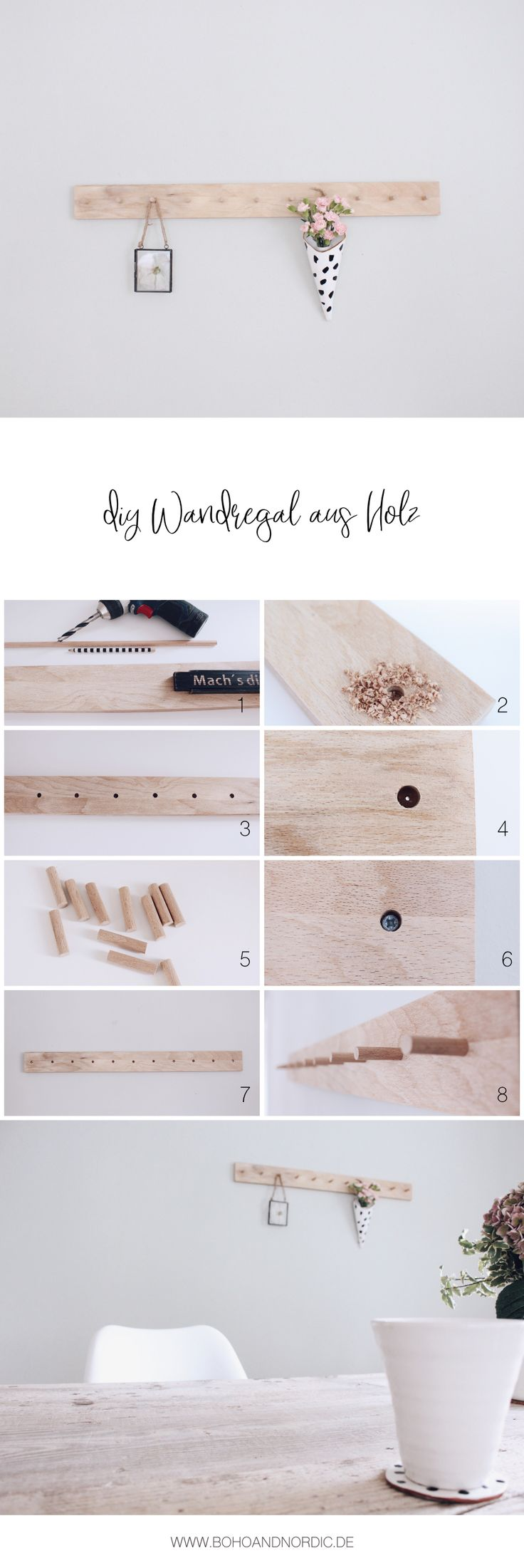 DIY Wandregal aus Holz selber machen