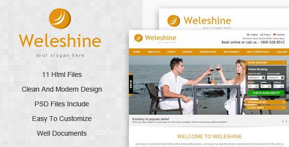 Weleshine Hotel Template