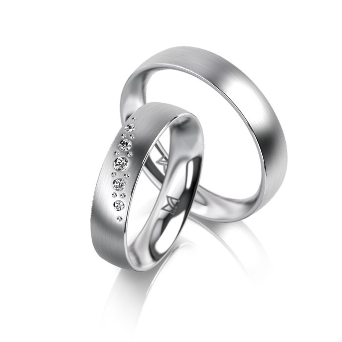 MEISTER Wedding-Ring SYMBOLICS Twinset 109 - wedding-rings whitegold | MEISTER