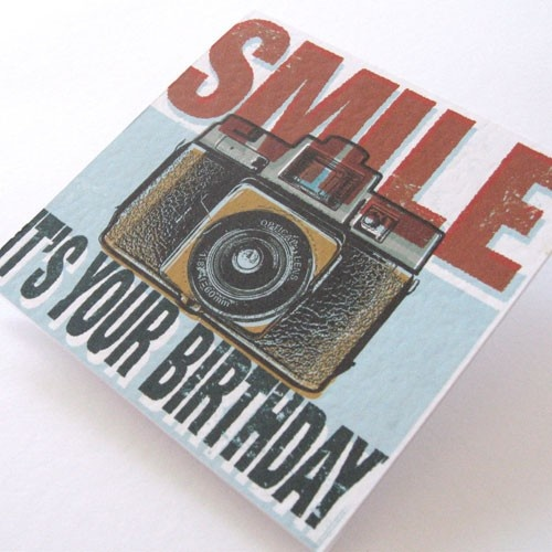 Camera Birthday Card (Smile It's Your Birthday) - by elbiesparks on madeit