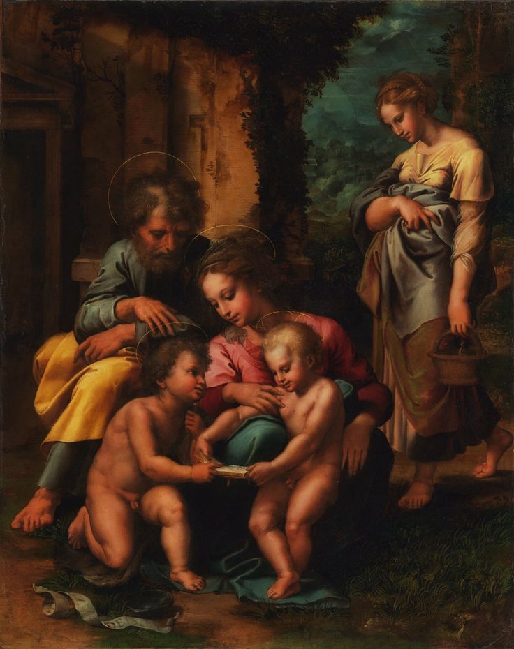 The Holy Family Giulio Romano 1520-1523 #iconography #artoftheday #visualarts #art #painting #classical #realism #dailyart #picoftheday #fineart #artwork #instaartoftheday #instagood #instaart #artofinstagram #instadaily #artistoninstagram #artgram