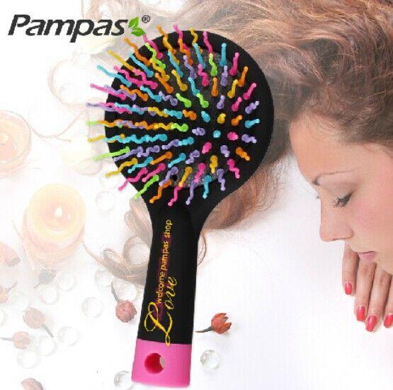 1pc new rainbow hair brush for brazilian indian keratin extension human wig styling candy magic comb tools escova de cabelo