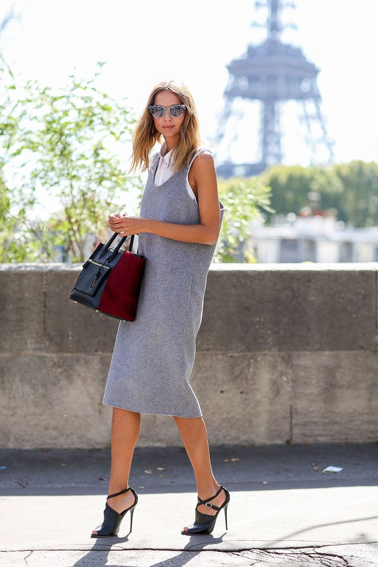 80 French Style Lessons To Learn Now #refinery29  http://www.refinery29.com/2014/10/75565/paris-street-style-photos-fashion-week-2014#slide20  Do: Put white collared shirts under everything.