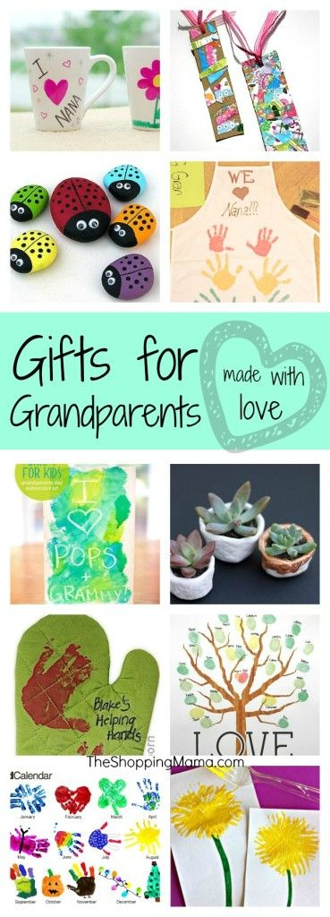 Grandparents grandparents day and handmade gifts on pinterest for Homemade gifts from toddlers to grandparents