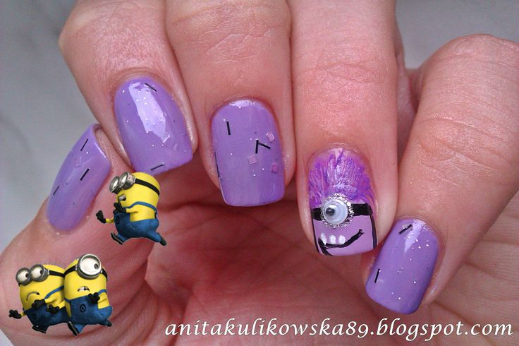 11 best images about purple evil minion nail art designs