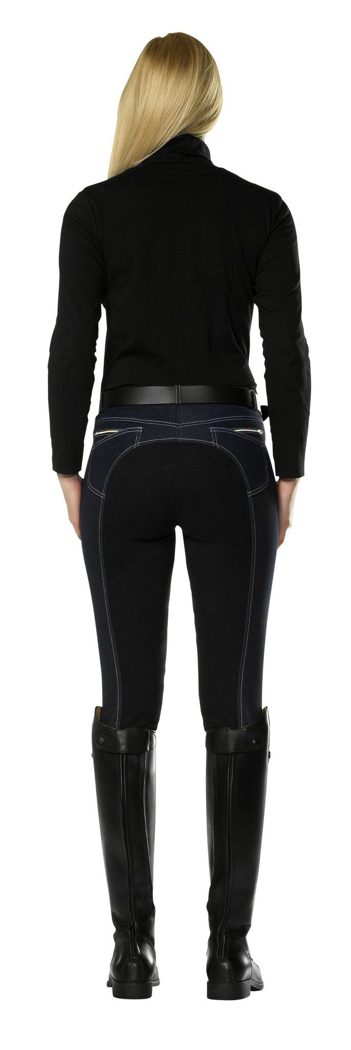 PFIFF Denim effect full seat breeches  - Eqclusive  - 2