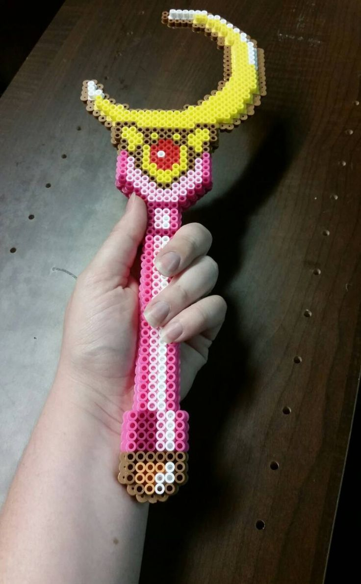 Sailor Moon wand perler beads  by MoralAmbiguity