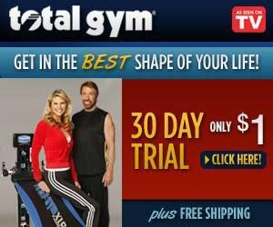 Get in the best shape of your life with the total gym.  #totalgym #homegym #ChuckNorris