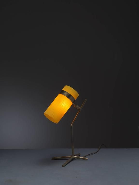 Yellow Table Lamp, Boris Lacroix and Pierre Guariche, France, 1950s 2