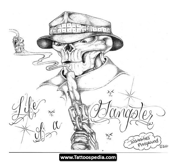 Gangsta Drawings With Guns Best 25+ Gangst...