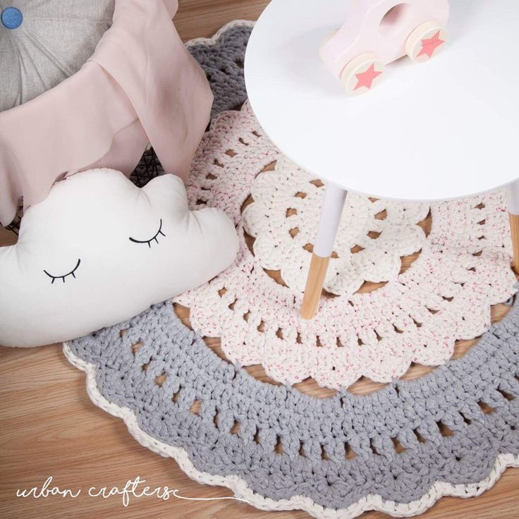 Crochet Rug Marilèn / Marilèn Heklet Teppe Doily Crochet Rug ZPAGETTI Yarn heklet Gulvteppe