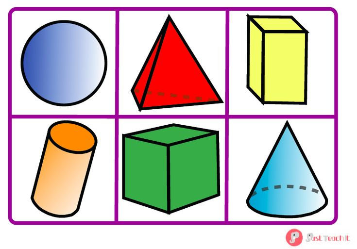 3D Shape Bingo - A colourful and fun set of 6 3D shape bingo cards and matching name cards. Match the name to the shape on the bingo board. Great for teaching children to recognise and read shapes and their names. Why not use alongside our other 2D and 3D shape resources? Visit: www.justteachit.co.uk - FREE teaching resources!