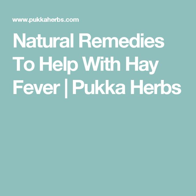Natural Remedies To Help With Hay Fever | Pukka Herbs
