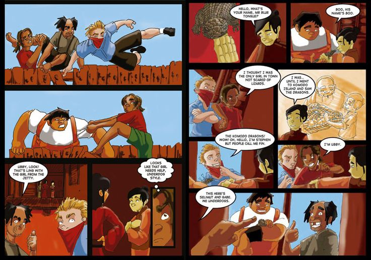 Take a peek at Ubby's Underdogs - a graphic novel set around Broome, by Brenton E McKenna.