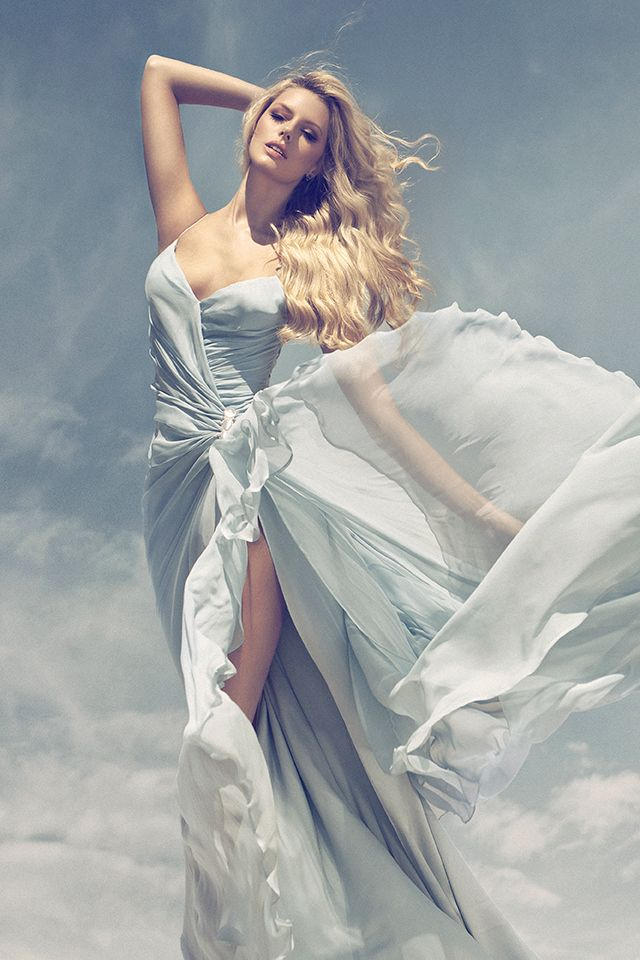 wow! If I didn't already have my wedding dress this would be a serious contender ...flowy dress - by Joseph Cardo