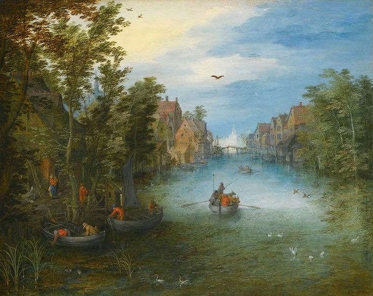 River Landscape 1602-03 Oil on copper, 18 x 23 cm Private collection